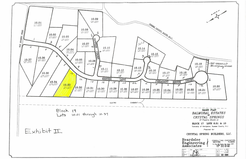 Land for Sale at 10 Exeter Lane Hamburg, New Jersey 07419 United States