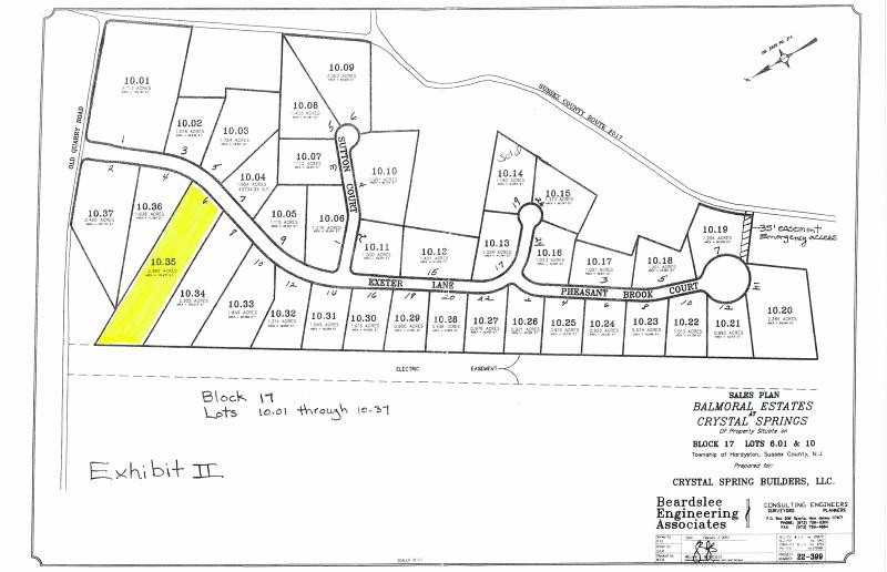 土地 为 销售 在 6 Exeter Lane 汉堡, 新泽西州 07419 美国
