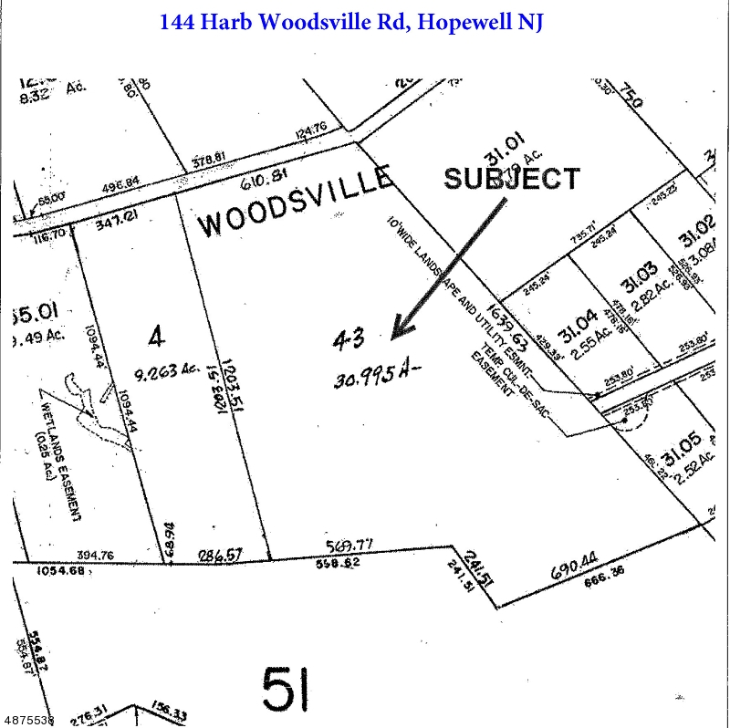 Land for Sale at 144 HARB WOODSVILLE Road Hopewell, New Jersey 08534 United States