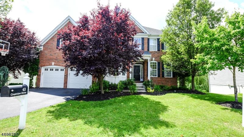 Enfamiljshus för Försäljning vid 43 Crestview Drive Clinton, New Jersey 08809 Usa
