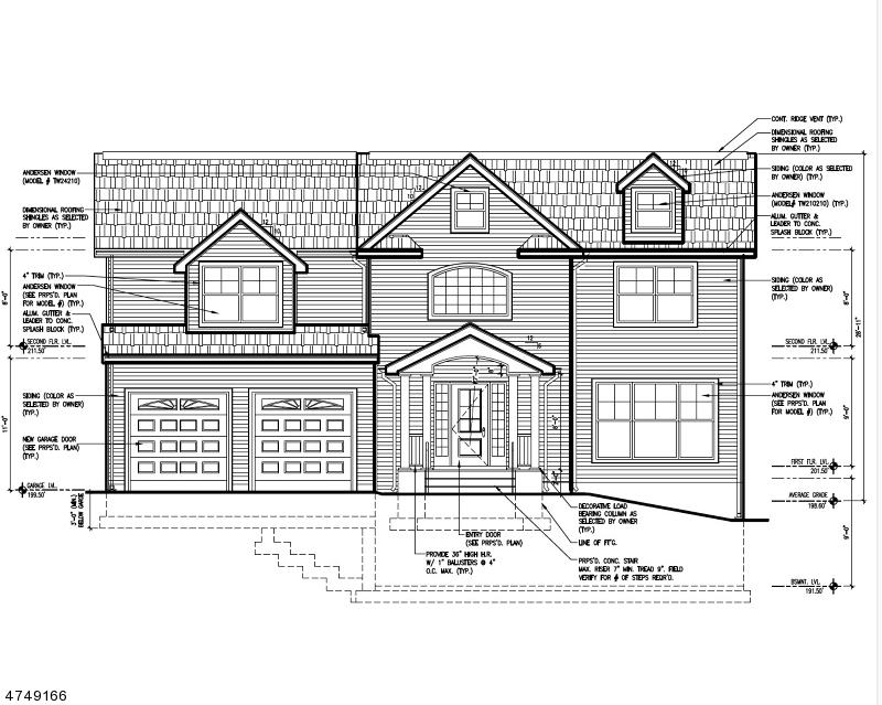 واحد منزل الأسرة للـ Sale في 42 Durrell Street 42 Durrell Street Verona, New Jersey 07044 United States