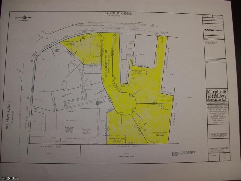 土地 為 出售 在 725 MOUNTAIN Avenue Berkeley Heights, 新澤西州 07922 美國