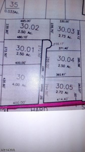 Terrain pour l Vente à HARDSCRABBLE HILL Road Raritan, New Jersey 08822 États-Unis