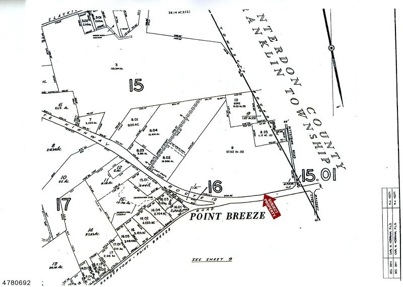 Земля для того Продажа на 828 State Highway 12 Kingwood, Нью-Джерси 08825 Соединенные Штаты