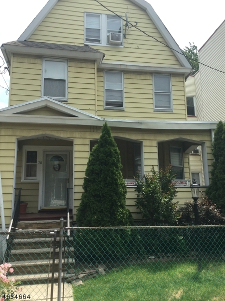 Single Family Home for Sale at 78 Columbia Avenue Newark, New Jersey 07106 United States