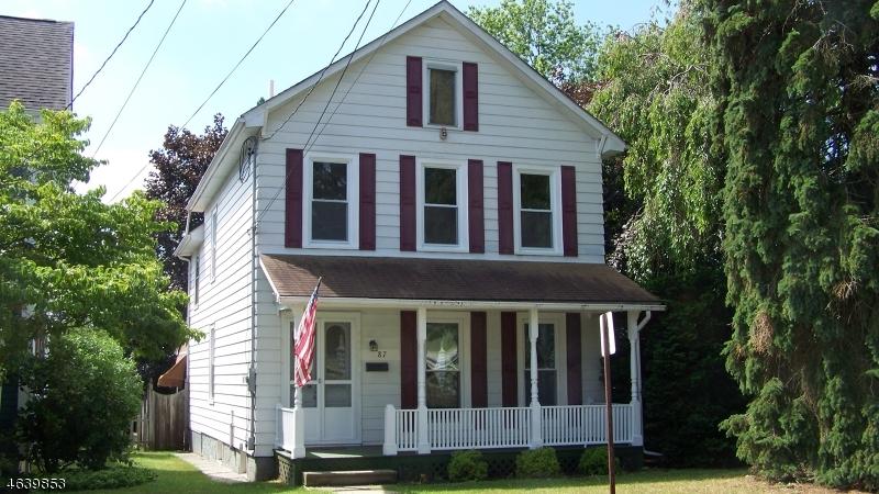 Частный односемейный дом для того Продажа на 87 W Warren Street Washington, Нью-Джерси 07882 Соединенные Штаты