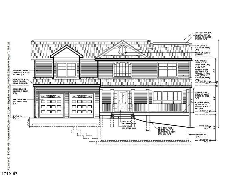 واحد منزل الأسرة للـ Sale في 48 Durrell Street 48 Durrell Street Verona, New Jersey 07044 United States