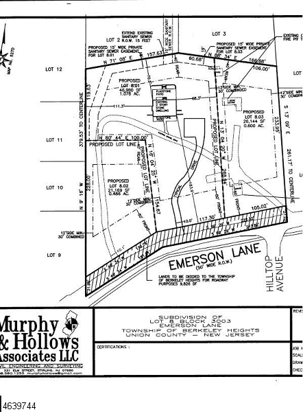 Land for Sale at 159 Emerson Lane Berkeley Heights, 07922 United States