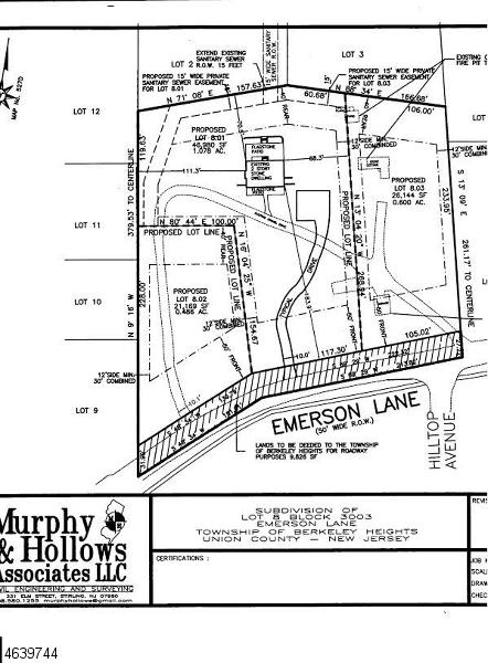 土地 为 销售 在 159 Emerson Lane 伯克利海茨, 07922 美国