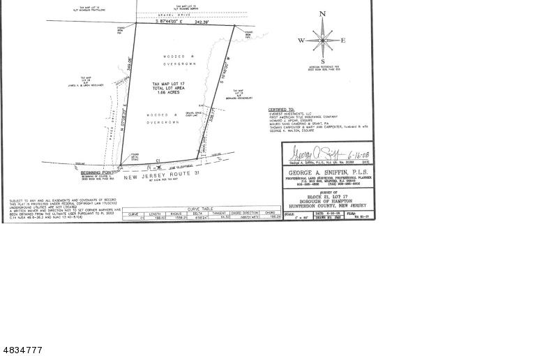 Property pour l Vente à 184 State ROUTE 31 Hampton, New Jersey 08827 États-Unis