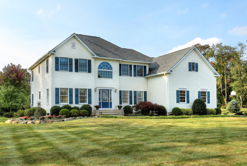 Exceptional 2000 built Colonial, at Doves Landing presenting four bedrooms, 2.5 baths boasts pride of ownership through-out and is nestled on 1.53 level, landscaped acres with majestic mountain views!