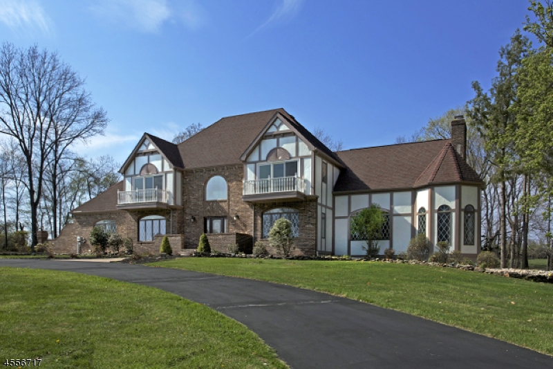A magnificent Tudor style home is attractively set on 3.41 rolling acres in Readington Township.  The acreage is enhanced by mature trees, open lawns and distant countryside vistas. This 4 bedroom, 3  full & 2 half bath residence was built in 1988 & has been upgraded w/many desirable features to 2015. Authentic Tudor elements,decorative half timbering, 2 front balconies, steep rooflines & leaded glass windows grace the exterior.Design highlights incl; picture windows, leaded glass transoms, diagonally placed marble tile flooring with inlay, hardwood floors, 2015 granite gourmet kitchen and all baths, towering great rm w/brick wall fireplace, chair rails, French doorways, crown & dentil moldings. Fin/lower lvl with rec/game and media rooms,entertainment kitchen/bar, office, full bath & powder rm. 3 car garage.