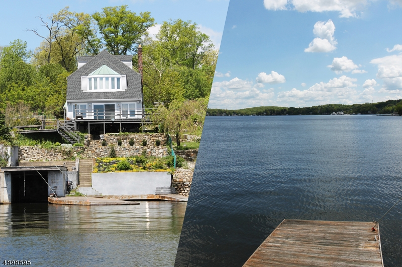 It's great having a flat roof boat house, two deep water docks, panoramic views, and city sewers.