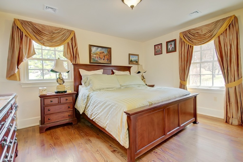 Guest room.  All floors are hardwood