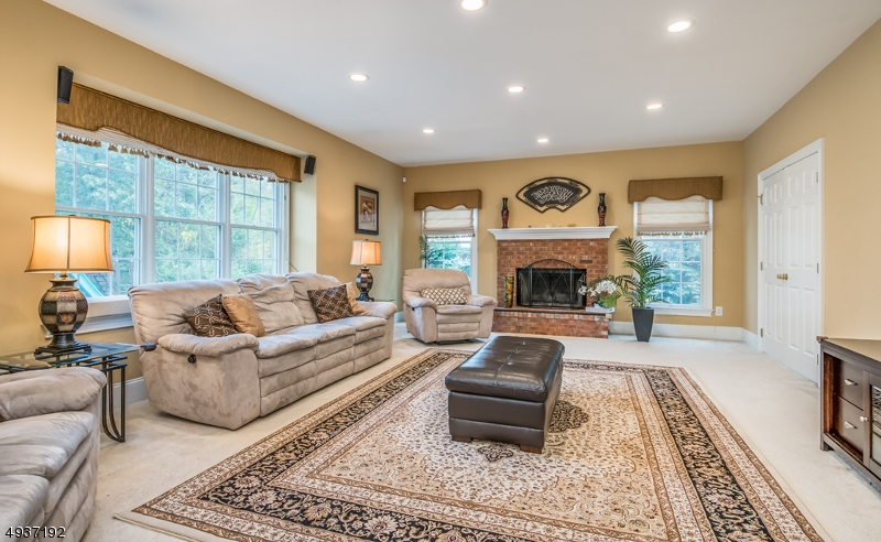 Wonderful sun filled Great Room with fireplace & lots of natural light!