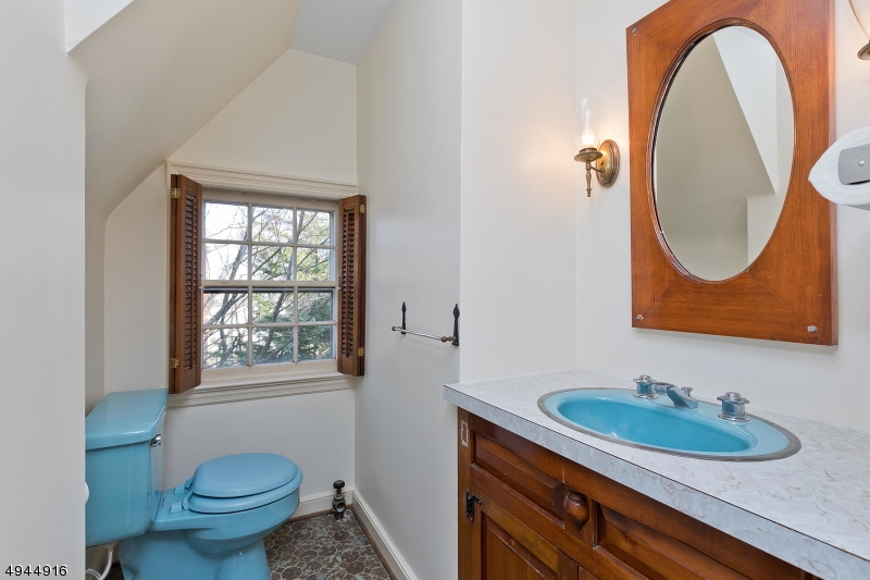 There is a closet next to the half bath, with potential to create a full bath should one desire.