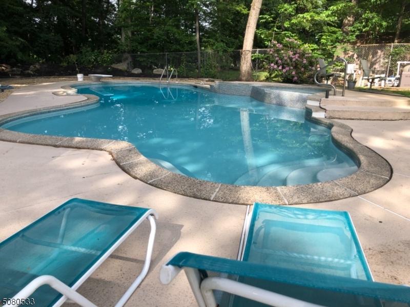 What a place to decompress after a stressful day...this incredible pool is tucked in a quiet corner of the private back yard with a cabana that offers a service bar, changing area and powder room.  Go ahead...kick back and just relax.