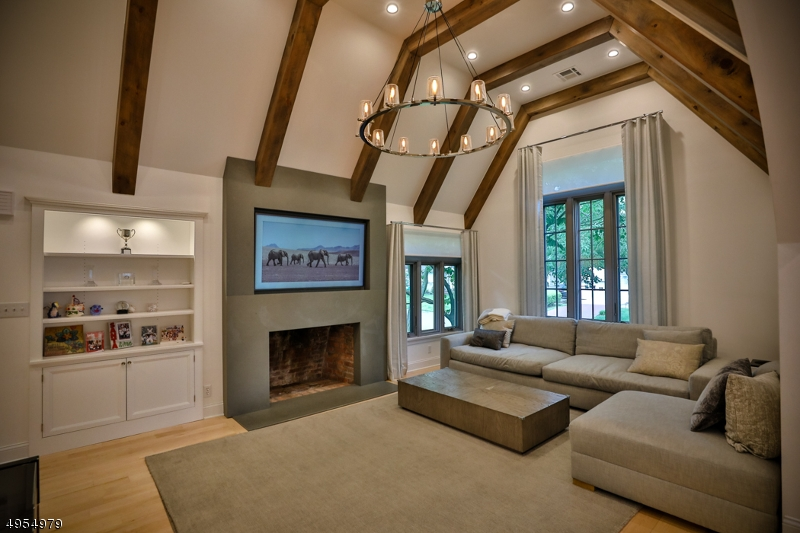 New fireplace and built-in's, natural Maple hardwood floors