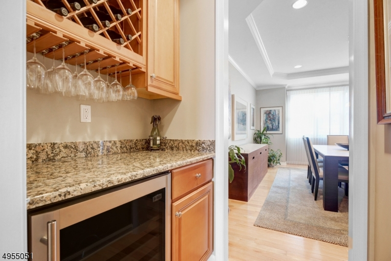 Perfect spot for a bar! Includes wine fridge