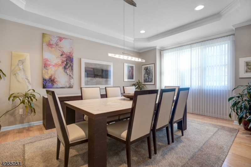 Oversized Dining Room with lots of sunlight