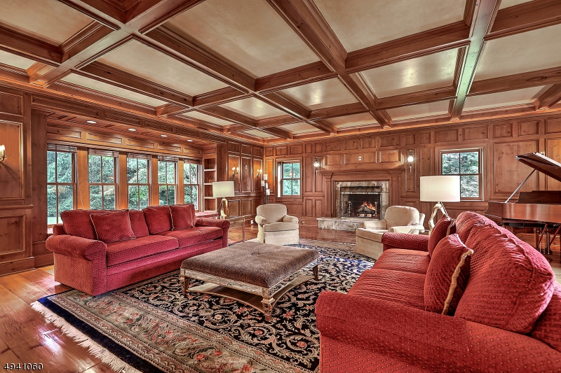 Great room with wood-burning fireplace