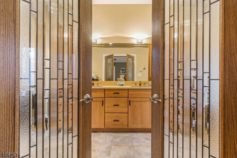 Elegant doors to master bath
