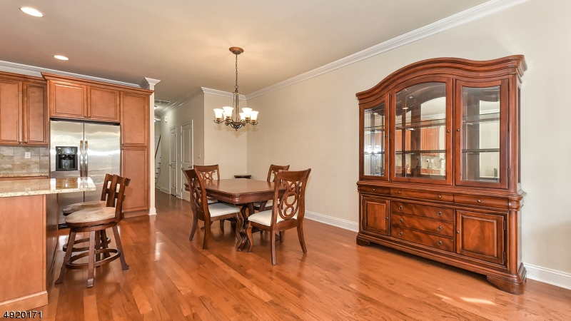 Can accommodate a large dining room table.