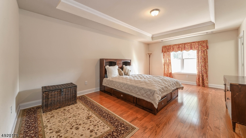 Spacious Master Bedroom with tray ceiling