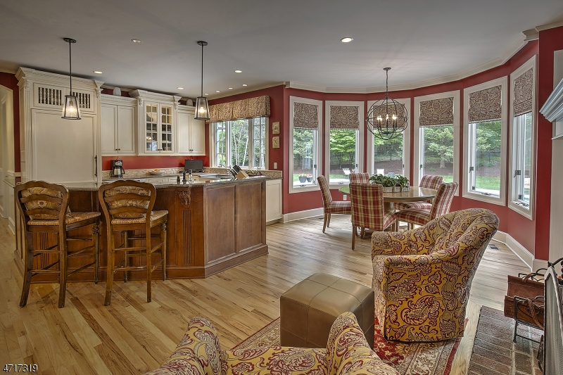 Large Kitchen has everything; Island, bay window for kitchen table, fireplace, etc.