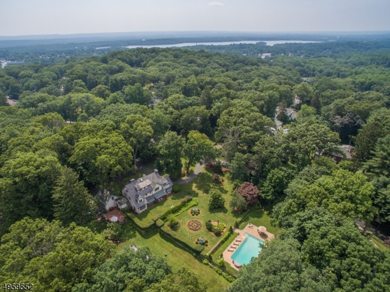 Wooded lot provides privacy.