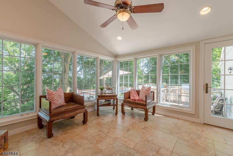Features radiant heat flooring