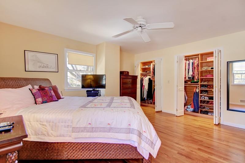 Hardwood flooring and custom cedar-lined closets