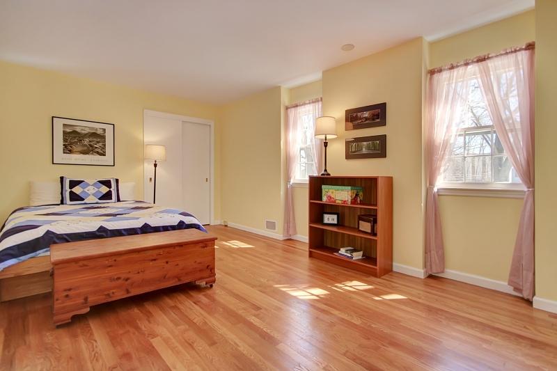 Hardwood flooring and good sized closet