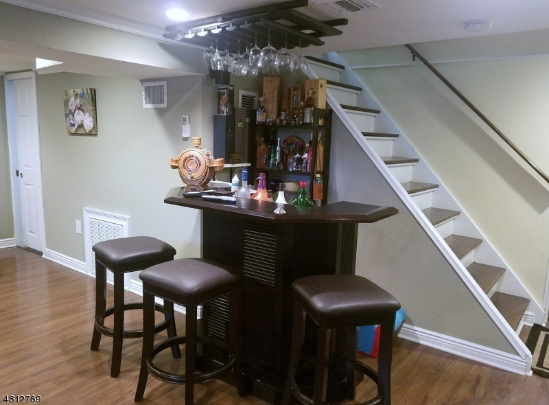 Bar area in the basement