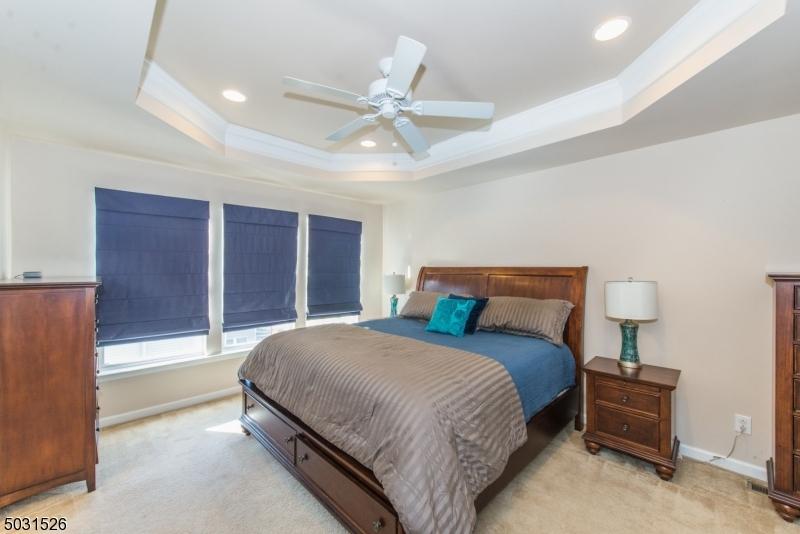 Custom tray ceiling, large walk in closet