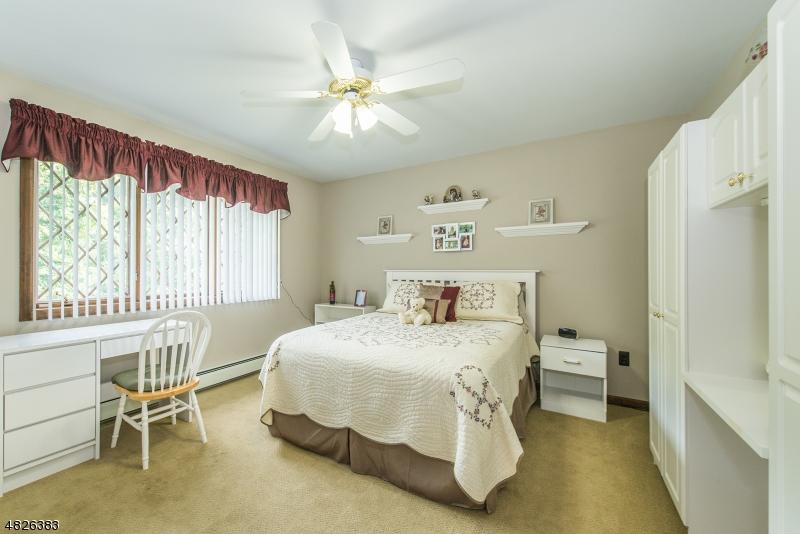 Ceiling fan and double door closet