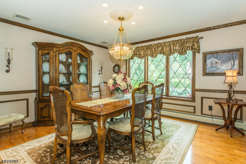 Perfect for special gatherings .....it  has custom wall and crown molding