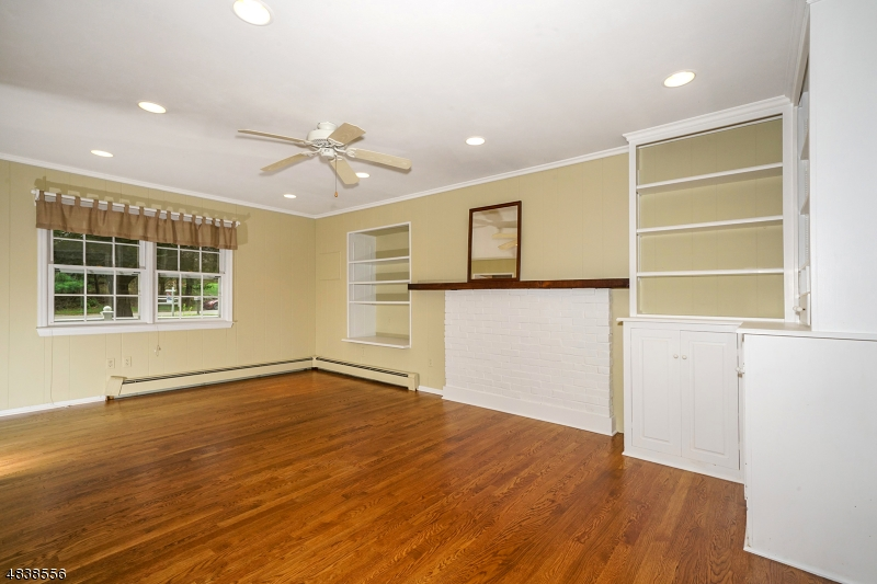 The family has hardwood floors and plenty of built-ins for all your storage needs.